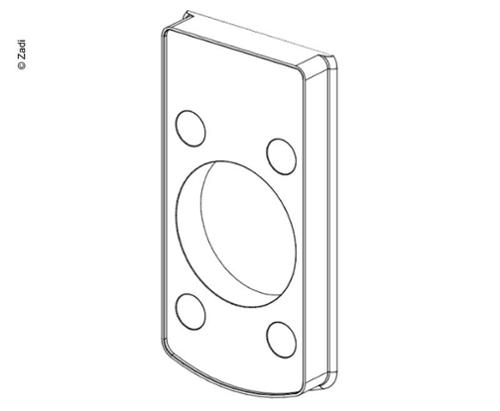 Door lock spacer plate for wall thickness 13mm for item no. 52601 / 52602