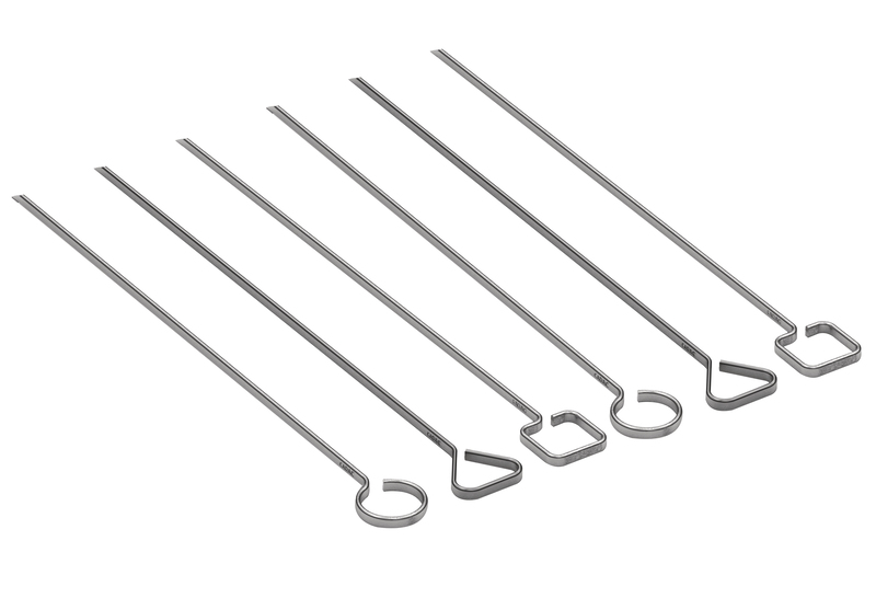 Grill skewers, set of 6 made of stainless steel
