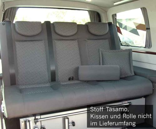 sleeping bench size 10 VW T5 V3000 3-seater, upholstery Tasamo T5