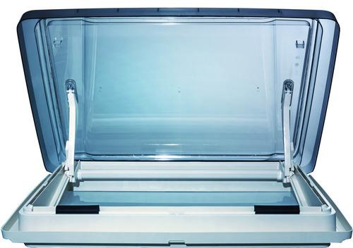 Campana de techo Vision Star L pro 70x50 marco interior de vidrio ahumado blanco