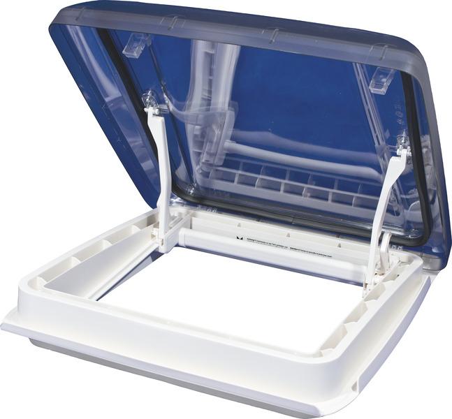 Dachhaube Vision Star M pro 2, 40x40 Rauchglas, Innenrahmen weiß