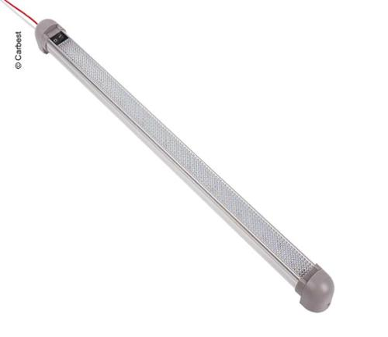 Luz de línea LED de aluminio de 12V con interruptor de encendido / apagado, longitud: 470 mm, 30 LED