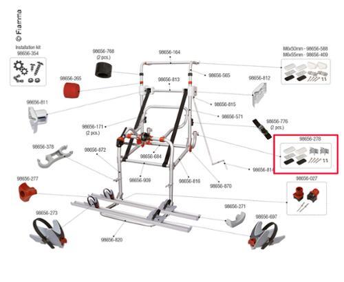 Kit di montaggio qui sotto per Carry Bike Lift