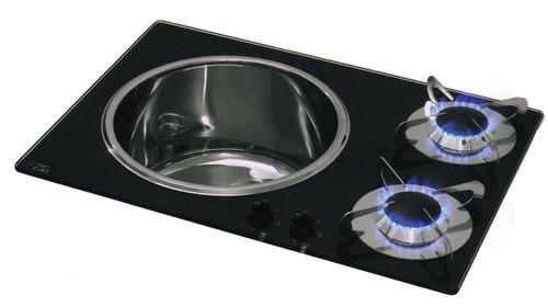 Spüle-Kocher Kombination CAN 2-flammig