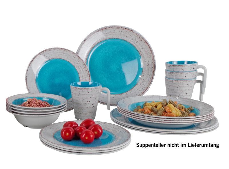 16 Piece Dinnerware Set Casa Grey, Casa Carribean & Casa Terracotta