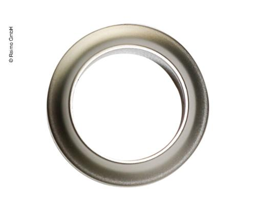 Push Lock - Rosette Silber