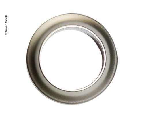 Push Lock - Rosette Silver