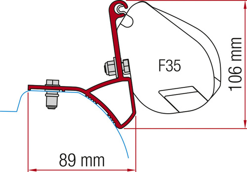 Fiamma Markisen-Adapter für Markise F35 Pro, Trafic.Vivaro ab 2015