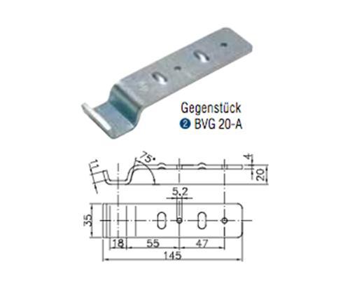 Winterhoff counterpart side plate lock BVG 20-A