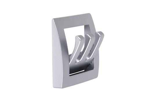 Wardrobe holder matt silver 1 piece, folding, 3 hooks