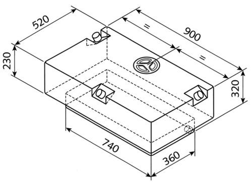 Réservoir d'eau EV-2201 - 124l