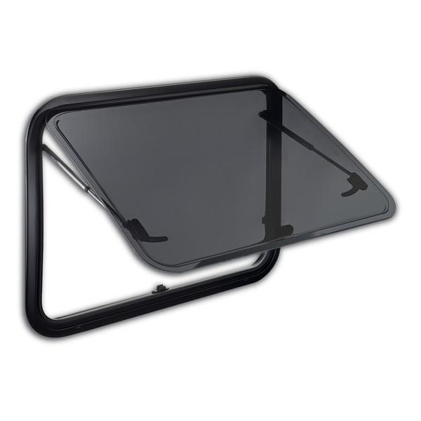 Ventana abatible con marco de aluminio con acristalamiento acrílico S7P -