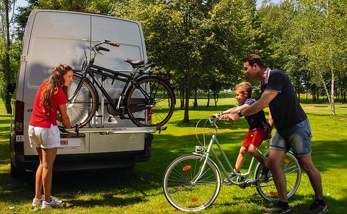 FIAMMA bære cykel til VW Crafter med belastningskapacitet på op til 50 kg