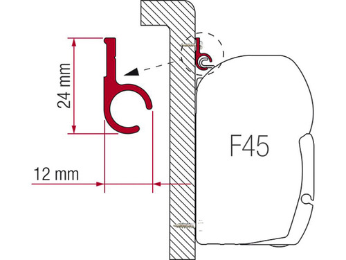 Rail Fiamma 400cm