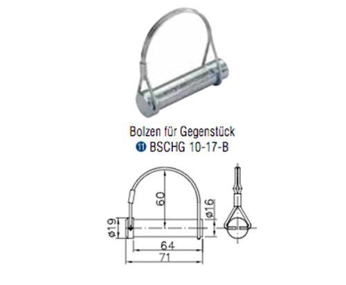 Winterhoff Gegenstück Bordwandscharnier BSCHG 10-17-B