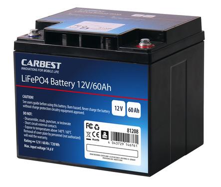 Carbest LiFePo4 Batterie 60 Ah