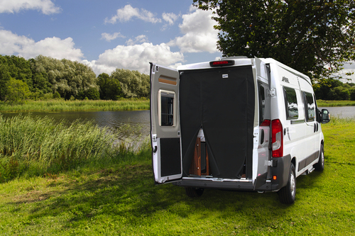 Mosquito net rear door for Fiat Ducato from 07, RV centric, magnetic fastening