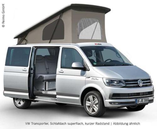 Toit relevable T5 Easy Fit, VW T6, LR, avant haut, fermeture ceinture, climatisation.