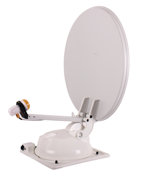 Mc Camping antenne 65 hvid, 65cm, 2 satellitter