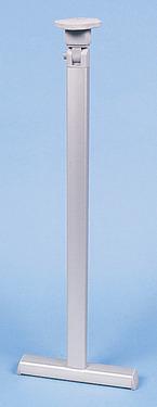 Klapbare tafelvoet zilver met T-voet - hoogte 720 mm Verbinding bovenaan