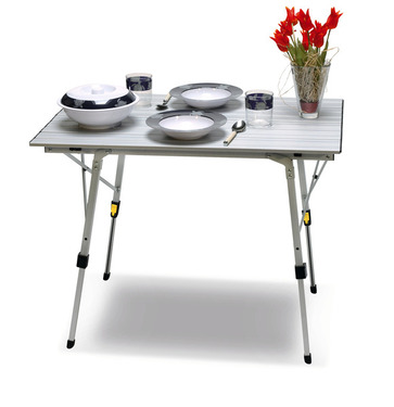 Table de camping enroulable en aluminium BALI CAMP4 - Table de camping REIMO