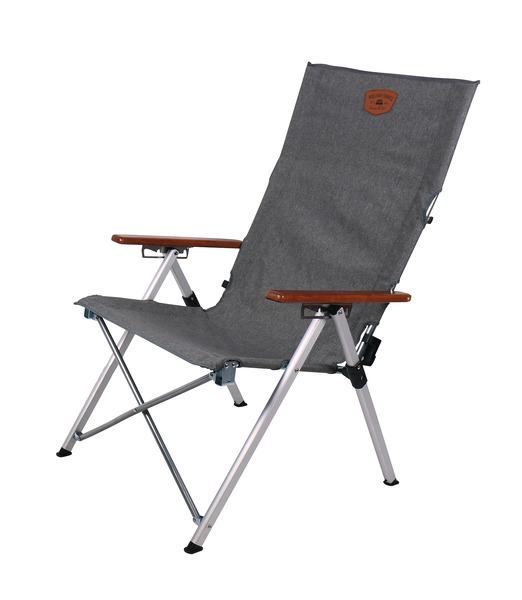 Fotel składany Joplin z aluminiową ramą, 4-stronnie regulowane oparcie