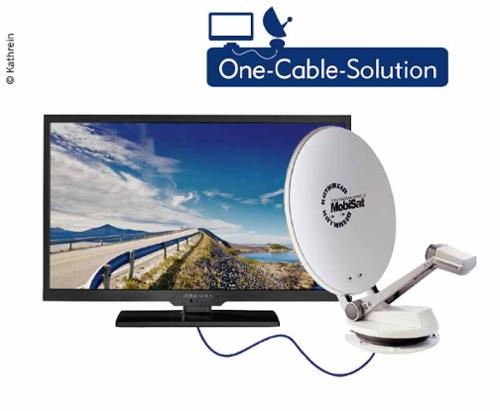 "Caravan TV System CTS 650-24 GPS flad antenne inkl. Alphatronics 24 ""TV"