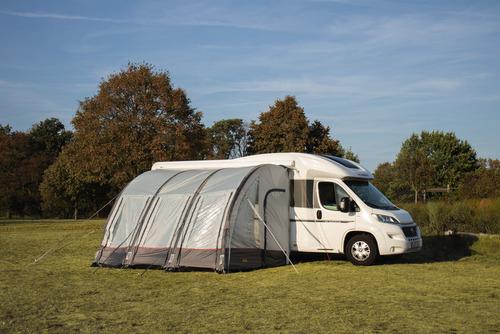 Auvent gonflable camping car CASA AIR gris clair/gris foncé