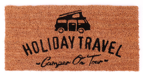 Tapis noix de coco 50x25cm - avec impression HOLIDAY TRAVEL