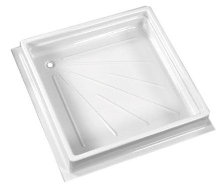 Shower tray, 680x680x102 mm, colour white