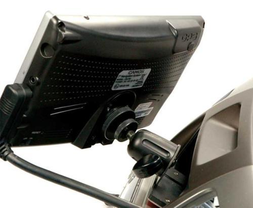 DIN-Schacht-Monitorhalterung mit schwenk-/ausziehbarem Gelenkarm