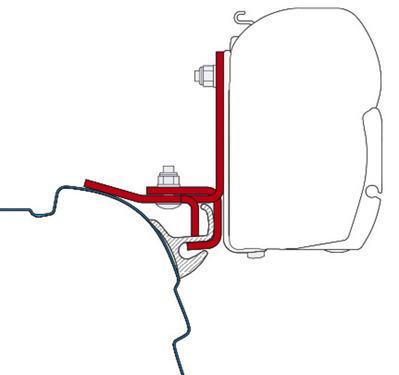T5 Adapter für F45i/F45iL Brandrup/ Multirail