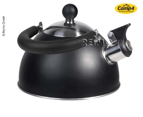 Chaudière à cannelures noir mat, contenance 1,8 ltr, acier inoxydable 304