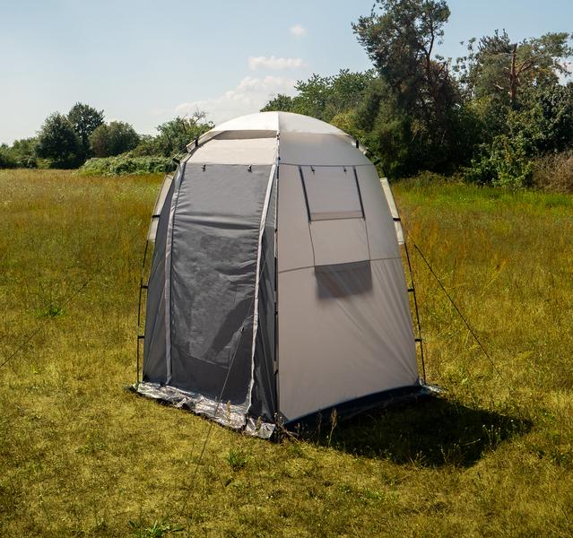 Shower/dressing tent Campalto, light grey/anthracite
