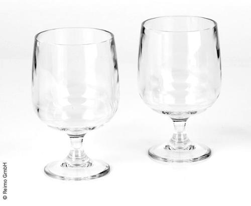 Plastic wijnglazen 2 stuks, stapelbaar 250ml - acryl