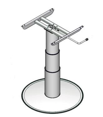 Einsäulen-Hubtisch, Hubhöhe: 320-695mm, graue Teleskophülsen
