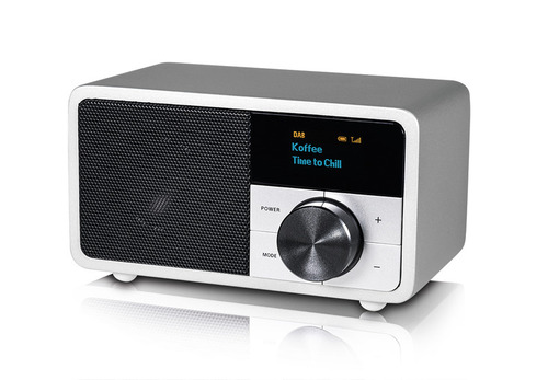 DAB + mini radio, obudowa srebrna