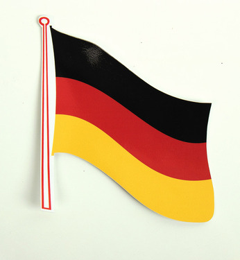 Flag sticker Germany pack of 2, 145 x 125 mm