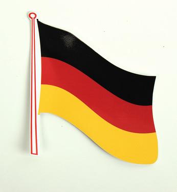 Flag klistermærke Tyskland 2 pakke, 145 x 125 mm