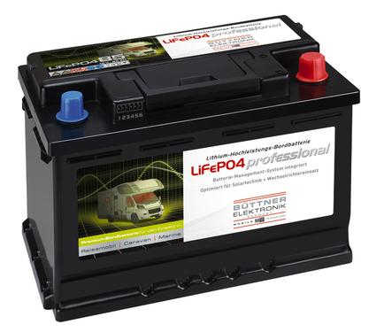 Indbygget batteri med lithium-teknologi 12V 80Ah