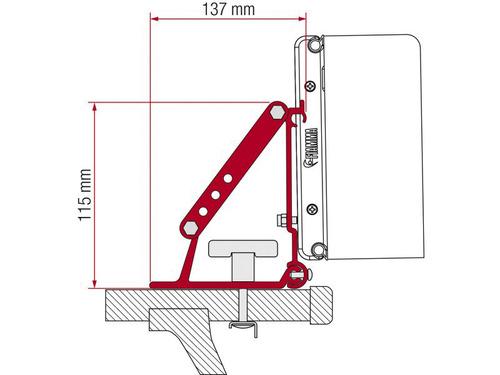 Adapter F1/F45/F35/F50/F55 for roof racks