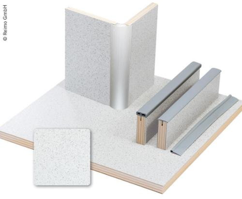 Møbelbræt Granitlaminat, HPL, 1/4 plade
