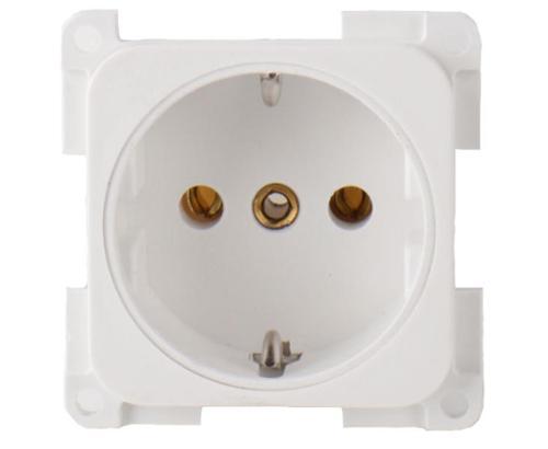 Socket outlet 230 V, white