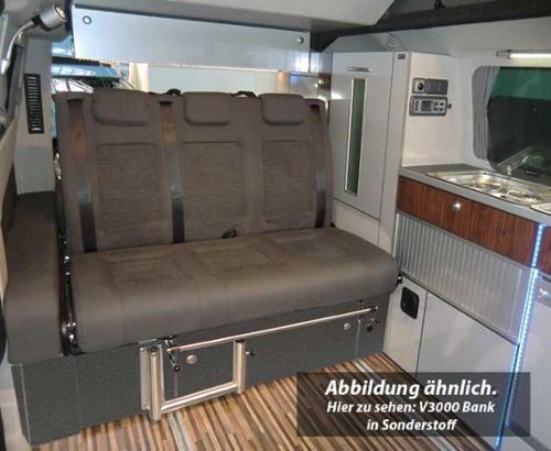 Schlafsitzbank Ford Custom V3000 Gr.10 3-sitzig, Polster Trend 2-farbig