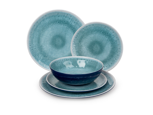 "Melamine tableware set ""DEEP WATER"" 12pcs"