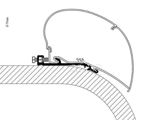 Omnistor Flat-Adapter für Thule Dachmarkise 6002 6900 L:4,00m