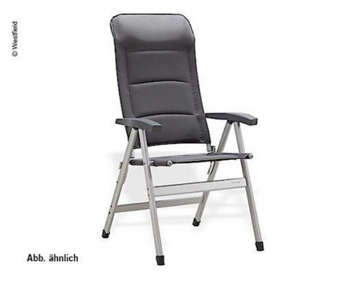 Chaise de camping Pioneer gris anthracite - chaise rembourrée à quatre pieds