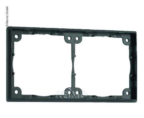 Distance frame 2-fold. Flat, 3mm construction height. Slate grey. Loose, unpacke