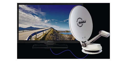 "Caravan TV System CTS 650-19 GPS flad antenne inkl. Alphatronics 19 ""TV"