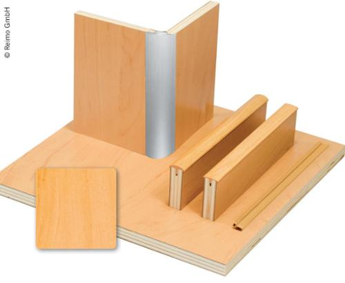 Möbelbauplatte Apfel Schichtstoff, HPL, 1/4 Platte